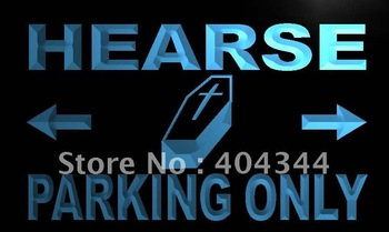 LN360- Hearse Parking Only Neon Light Sign   hang sign home decor shop crafts led sign