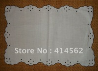 100% cotton table cloth, hotel deluxry mat, embroidery napkins,embroidery mat, drawn works