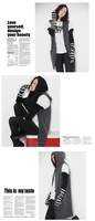 Wholesale, Black and  Gray stripes Fingerless arm Mitten Long Sleeve Stripe Gloves  knit  long fingerless gloves ,50pairs/lot