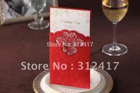 New Arrival 100pcs/lot red wedding invitations elegant, wedding invites
