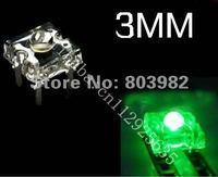 Aliexpress supplier Green Piranha LED 3mm four-legs leds 505-530NM 3.0V-3.5V(CE&Rosh)