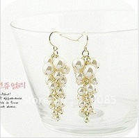 Min.order is $15 (mix order) Bohemian style multilayer pearls grape tassels earrings E214