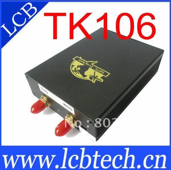 Multi-functional Vehicle/Car GPS tracking TK106 fuel sensor, SD card, remote, Quad-band GPS106 free shipping 2pcs/lot(China (Mainland))