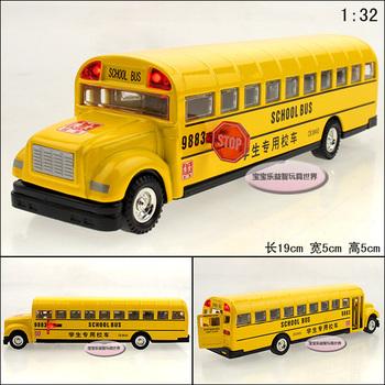 free shipping Classic school bus exquisite alloy acoustooptical alloy car model children chrismas gift