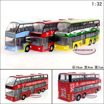 free shipping Luxury tourist bus exquisite alloy acoustooptical alloy car model children chrismas gift