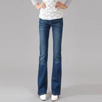 Classic boot cut jeans female  slim elastic butt-lifting trousers all-match blue