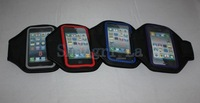 10pcs/lot armband leather case for iphone 5 5g with retail package free shippinig