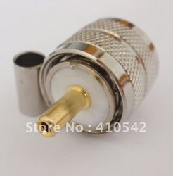 RF connector UHF male plug crimp RG58 RG142 LMR195 RG400(China (Mainland))