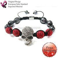 FREE SHIPPING Rainso Crystal Skull Bracelet Shamballa Bracelets skull merchandise SHA-221BRW-05