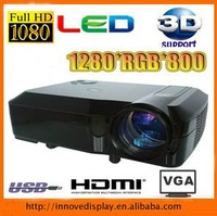 Cinema proyector 2500lumens HD LED projector with 3 HDMI 2 USB 16:9 widescreen Free Shiping