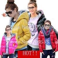 2012  winter plus size fashion women's shiny down coat short design 4colors DX009