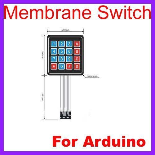 10pcs Lot 4 x 4 Matrix Keypad Membrane Switch 8 pins connector SCM Outside enlarge Keypad