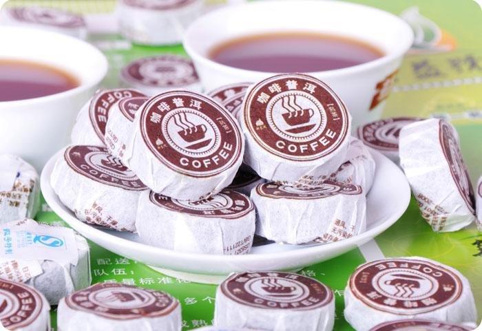 20pcs Coffee Flavour Puerh Tea Puer Pu er Tea Free Shipping