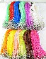 """120 Str 2mm Mix Colors Rubber Necklace Cord 17"""" 1 (1416)"""