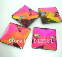 Free shipping(24pcs per lot)22mm fabric button square 001-vm color for clothing or shoes and so on