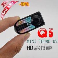 Free Shipping Q5 720P HD Mini DV,The Thumb DV, Digital Camera Recorder With Motion Detection