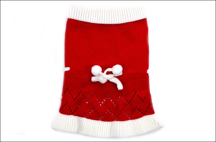 Petsmart dog clothes red classics lovely princess Christmas outfit Christmas pet clothing equipment free shipping wholsale(China (Mainland))