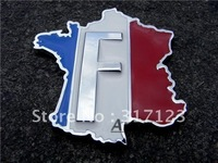 (20PCS/LOT) Wholesale New Metal Frence Flag  Emblems badges for car Vehicle Decals