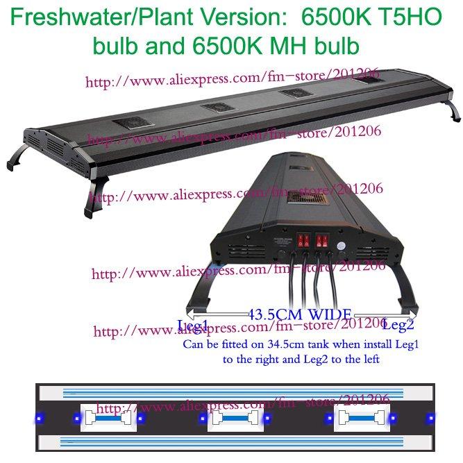 "ODYSSEA Aquarium Lighting/Fish tank Lamp 80"" Metal Halide HQI+ T5 770W/Mounting legs/Plant Version(China (Mainland))"