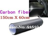 High Quality 152 X 60CM Black 3D Carbon Fiber Film Vinyl Car Sticker Carbon Fiber Sheet  Free Shipping