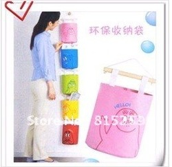 Free shipping Barbapapa lovely collection bag,environmental storage bag with wood and line(China (Mainland))