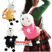Rabbit school bag child backpack cartoon rabbit bags