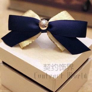 Handmade bow hairpin accessories hair accessory hair accessory small fresh small headband(China (Mainland))