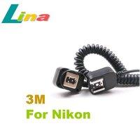 3M i-TTL TTL Off Camera Flash Sync Cord Cable for Nikon SB-900 SB-800 SB-600 SB-400 Free Shipping