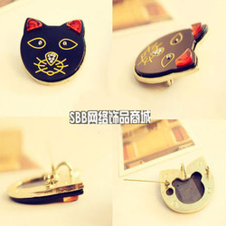 0098 Min.order is $10 (can mix item) 2794 Wholesale Fashion Jewelry Breastpin Cartoon Small Cat Crystal Brooches Pins(China (Mainland))