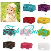 DHL Free shipping 50 Pcs  Lovely Baby Kids Girls Head Decoration Cotton Flowers Elastic Headband Hair Band Can choose 10 color