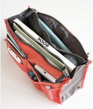 10pcs/lot  Lady's travel Organizes Bag Handbag Organizers Insert With Pockets Popular Storage Bags