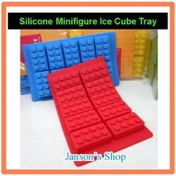 JS-LG002 food grade handmade Minifigure silicone ice cube tray ice mold chocolate cake pudding jelly dessert mold mould form(China (Mainland))