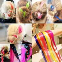 2793 HARAJUKU punk neon multicolour hair piece wig clip
