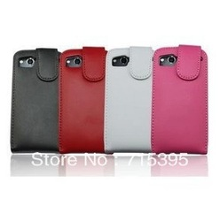 Black Leather Flip Case For HTC Desire HD A9191 G10, free shipping(China (Mainland))