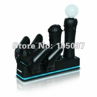 free shipping, charging dock for 4 controllers, Quad Dock Pro for PS3 Move