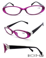 women plastic reading glases fashion reading eyewear with flower ornament PD62 (+1.50 +2.00 +2.50,+3.00,),four diopter for chose