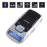 Newest Solar Powered Handsfree Bluetooth Car Kit  + MP3+cellphone +FM Transmitter