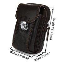 Fashion men's genuine leather vintage waist bag,elegant cowhide waist packs belt bag,7066C,