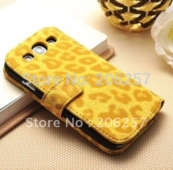 for samsung galaxy s3 case PU leopard heat setting case for Samsung i9300