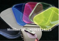 Free shipping Powerful Silica Gel Magic Sticky Pad Anti-Slip Non Slip Mat for Phone PDA mp3 mp4 Car Multicolor