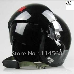 New Open Face light Black Motorcycle Jet Pilot Helmet