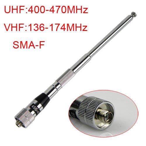 SMA-F female UHF/VHF Radio Antenna for Kenwood/Motorola BF-490 BF-V6/V8 H777 BF-888s 777s H555 walkie talkie NEW J0186A Eshow(China (Mainland))