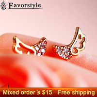 Оригинальные серьги Mixed order more than $15 Get ~ 0394 Fashion crystal bow green bowknot shamballa stud earring earrings