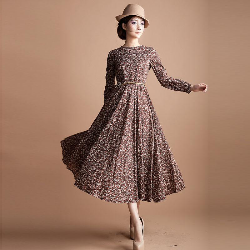 Model Baju terusan Wanita Lengan Panjang
