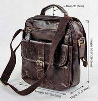 Item 7141Q,New arrival Men's fashion genuine leather handbags ,mens vintage leather shoulder bag messenger bag ,f