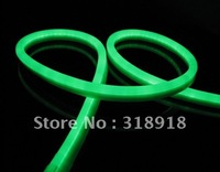 Free Shipping, LED Neon flex light, 80LEDs/M,Size: W 14*H26mm,Green color. Waterproof. LED neon Tubes, LED neon rope light