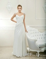 Fabulous Sleeveless Sweetheart Beaded Chiffon A-line Gown 2013 Wedding Dress Style : 7004 O19
