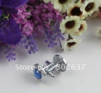 1Set skyblue rhinestone round cufflink Cuff links #22241