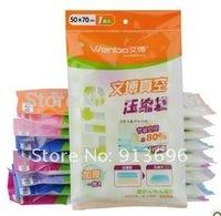 10PCS/lot,S Size 50*70cm ,2014 promotion Vacuum Compressed storage Bag,vacuum bags for clothes storage