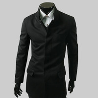 Free shipping!Mens fahsion chinese tunic suit casual outerwear brief stand collar jacket for men